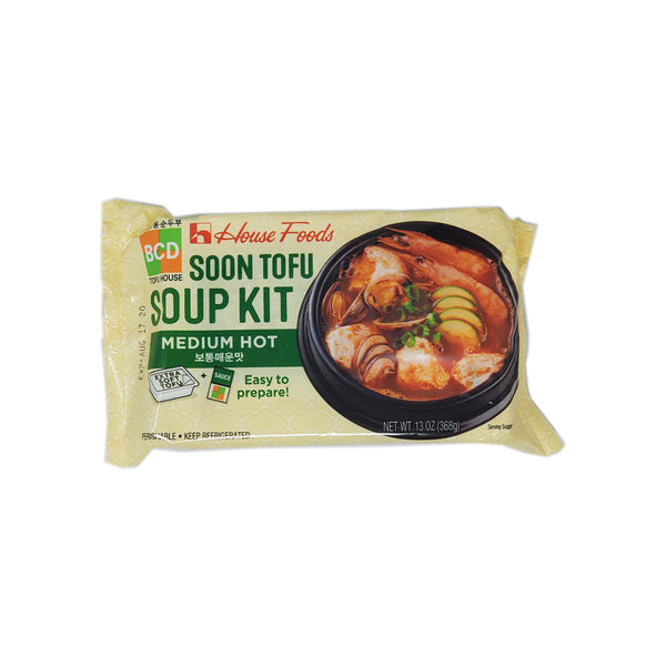 House Foods 북창동 순두부찌개 보통매운맛 (BCD Soon Tofu Soup Kit Medium Hot)  368g