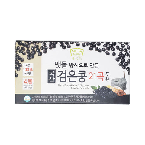 검은콩21곡 두유 (Black Bean & 21 Grains Soymilk) 180ml X 15