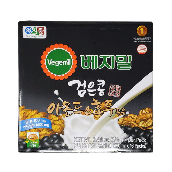 베지밀 검은콩 아몬드 & 호두 (Vegemil Black Bean Almond & Walnut) - 190mlx16pk