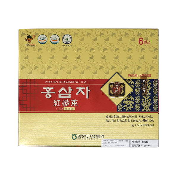 강원인삼농협 홍삼차 (Korean Red Ginseng Tea) 3g x 50bag