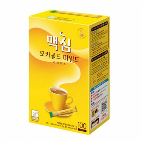 맥심 커피믹스 모카골드 마일드 (Maxim Coffee Mix Mocha Gold Mild) - 12g x 100 sticks/box