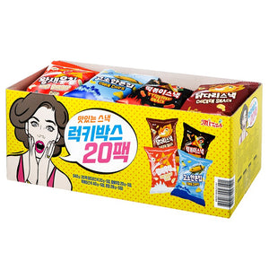 럭키종합 스낵 (Lucky Assorted Korean Cracker Snack Box) - 540 g