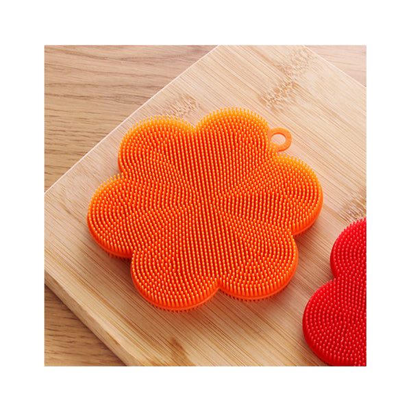 파미레 실리콘 수세미 꽃 (Pamire Silicone Wash Brush Flower) - Orange