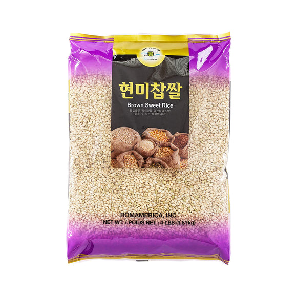 롬 현미찹쌀 (Rom Brown Sweet Rice) 4lbs