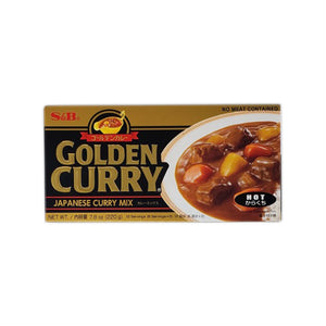 S&B Golden Curry Mix Hot 220g