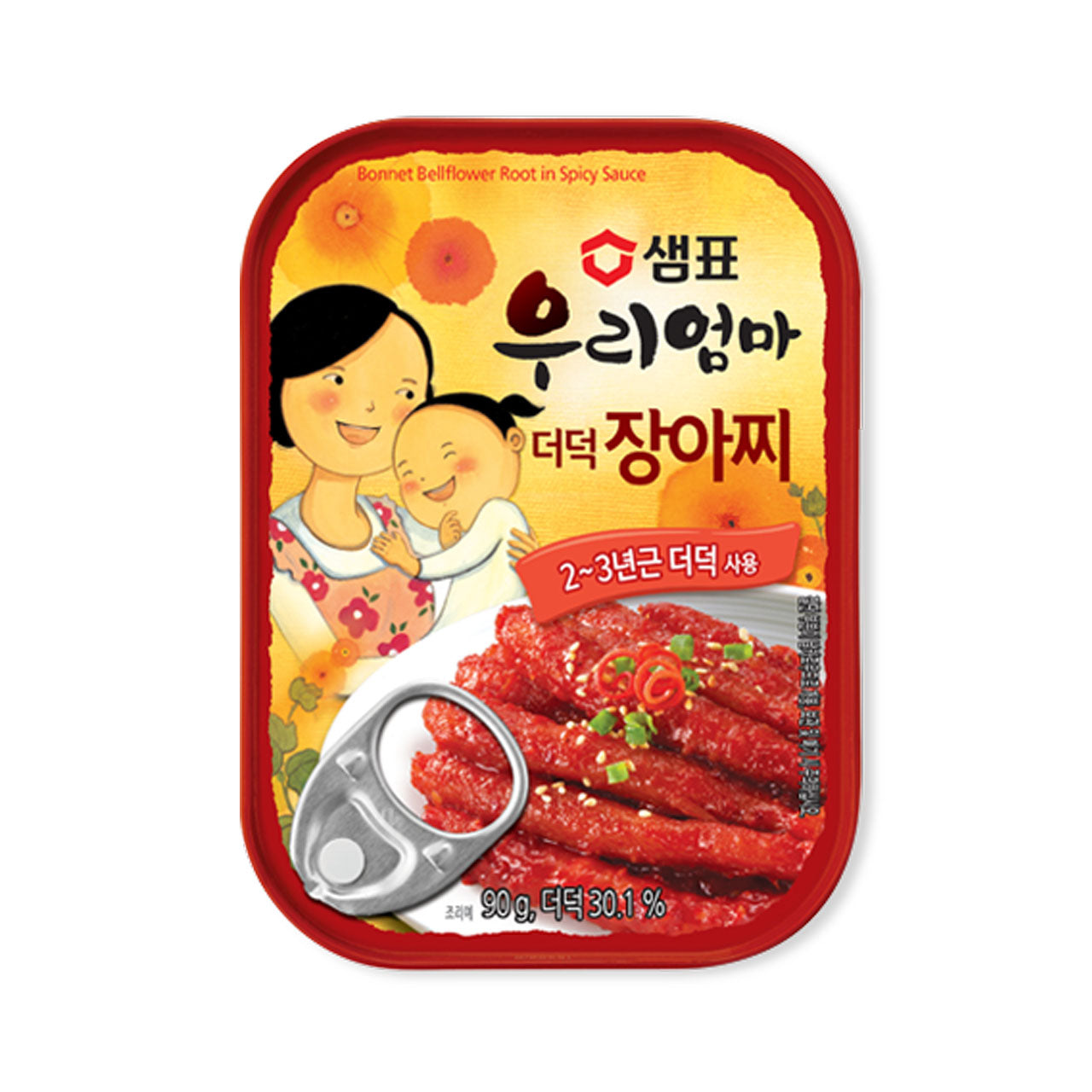 샘표 우리엄마 더덕 장아찌 (Sempio Bonnet Bellflower Root in Spicy Sauce) - 90g