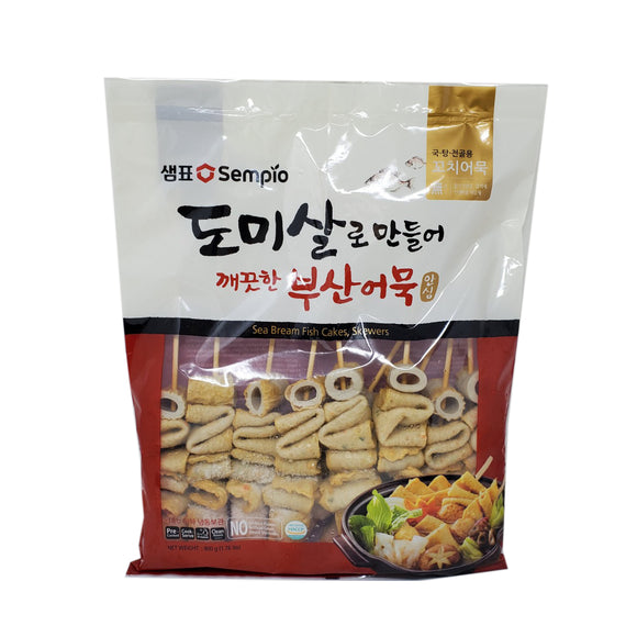 샘표 도미살 부산 꼬치 어묵 (Sempio Sea Bream Fish cake sticks) - 1.76lbs