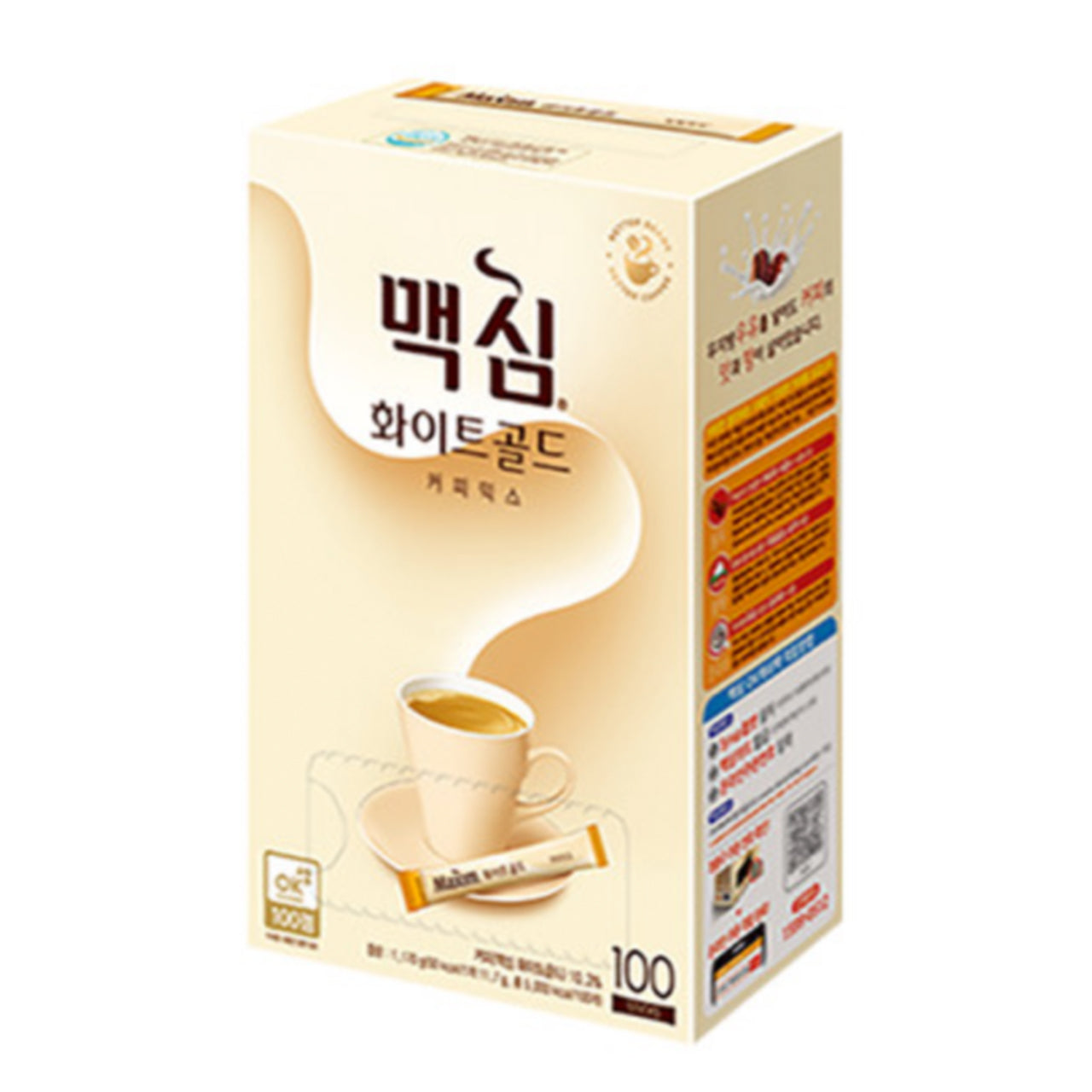 맥심 커피믹스 화이트골드 (Maxim Coffee Mix White Gold) - 12g x 100 sticks/box