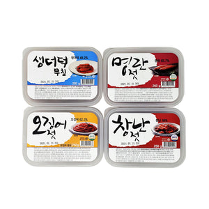 [Sale] Seasoned Deodeok & Salted Seafoods set of 4
