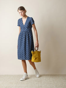 Indi & Cold Polka Dot Waisted Dress