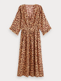 Scotch & Soda Animal Print Midi Dress