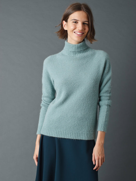 Indi & Cold Vintage Teal Blue Jumper