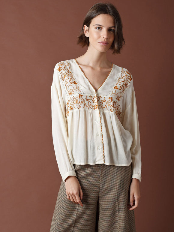 Indi & Cold Embroidered Blouse