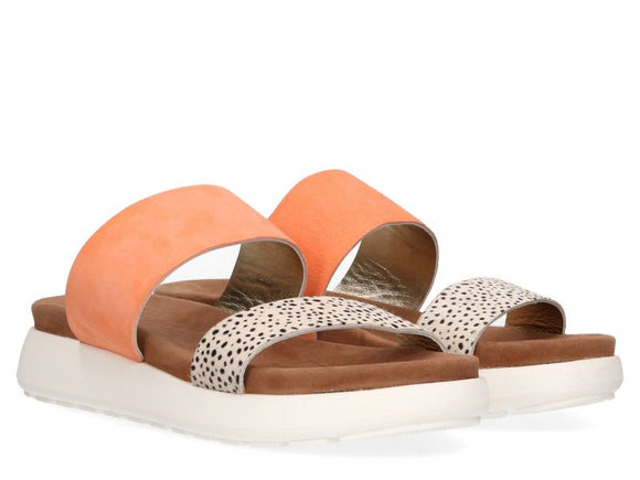 Maruti Suede & Leather Slider - Peach