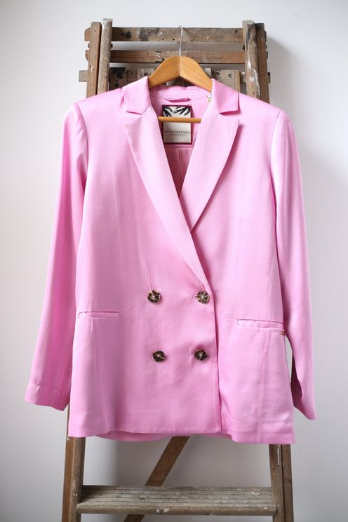 Scotch & Soda Double Breasted Pink Blazer