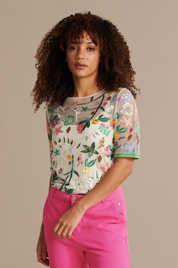 POM Jungle Beats Embroidered Top