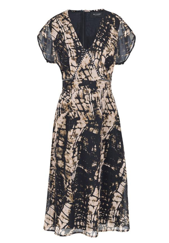 Religion Hide Print Dress