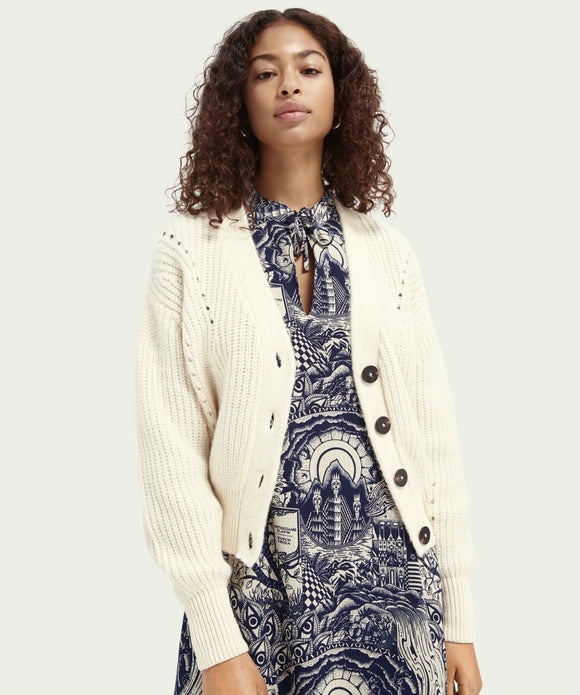 Scotch & Soda Chunky Knit Cardigan