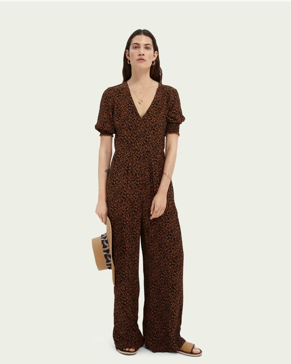 Scotch & Soda Animal Print Jumpsuit