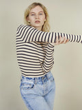 Storm & Marie Sand & Navy Striped Jumper