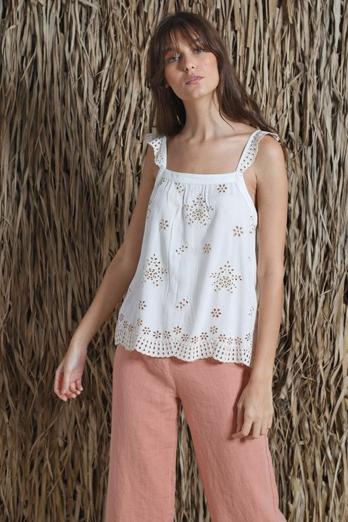 Indi & Cold Swiss Embroidered Camisole