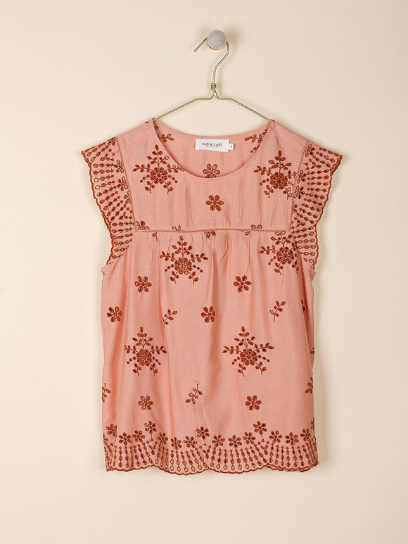 Indi & Cold Swiss Embroidered Top
