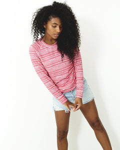 Stripe & Stare Pink Wave Sweatshirt