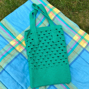 Anya Aldred Green Crochet Bag