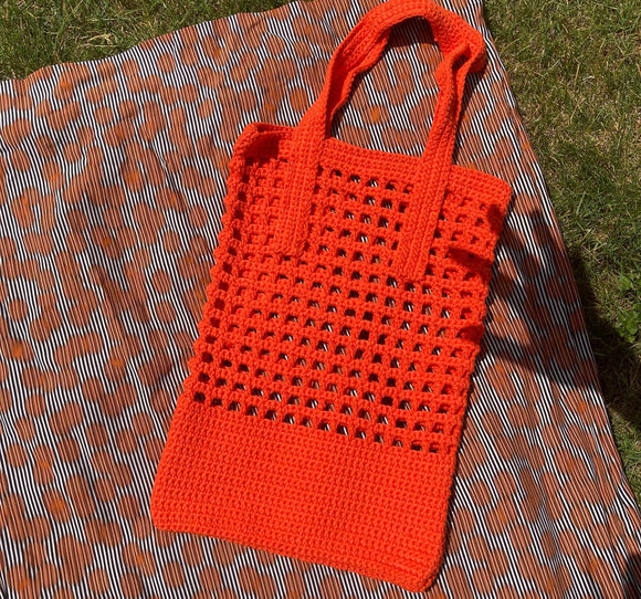 Anya Aldred Orange Crochet Bag