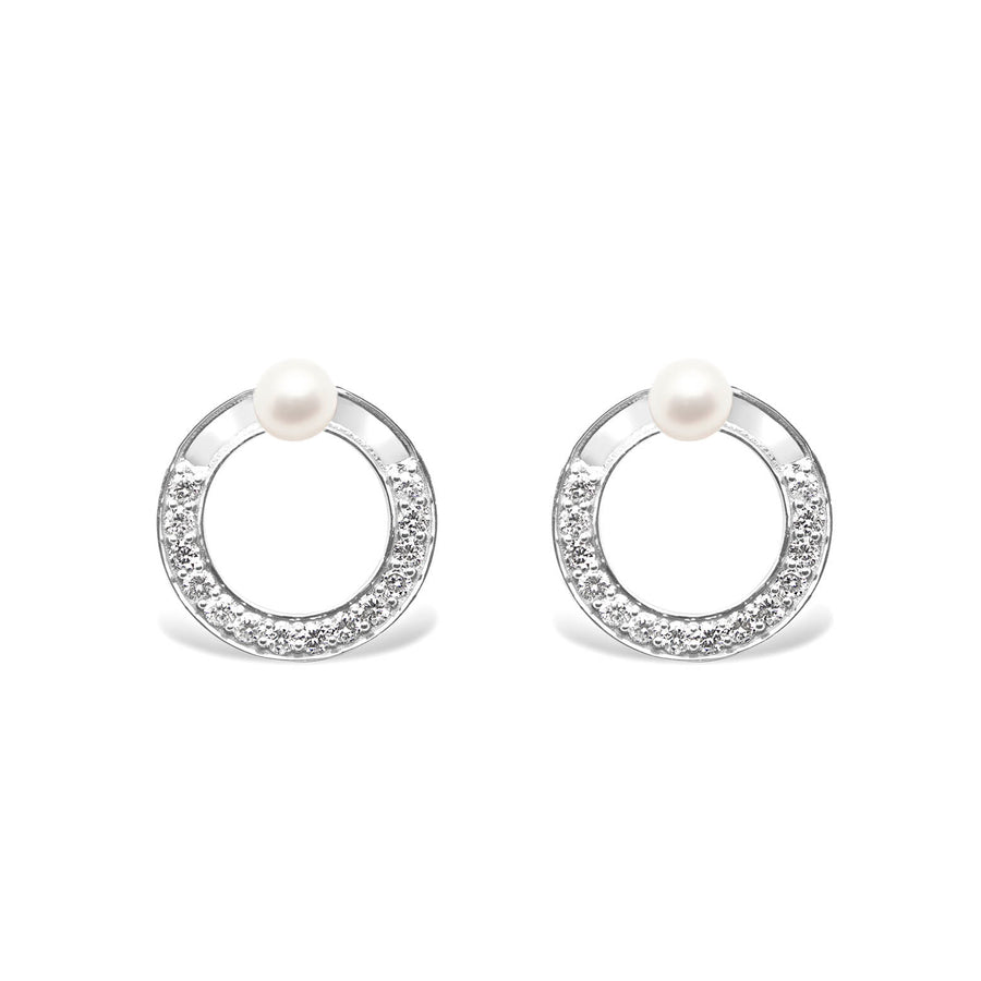 SNAKETRIC DISC EARRINGS WHITE