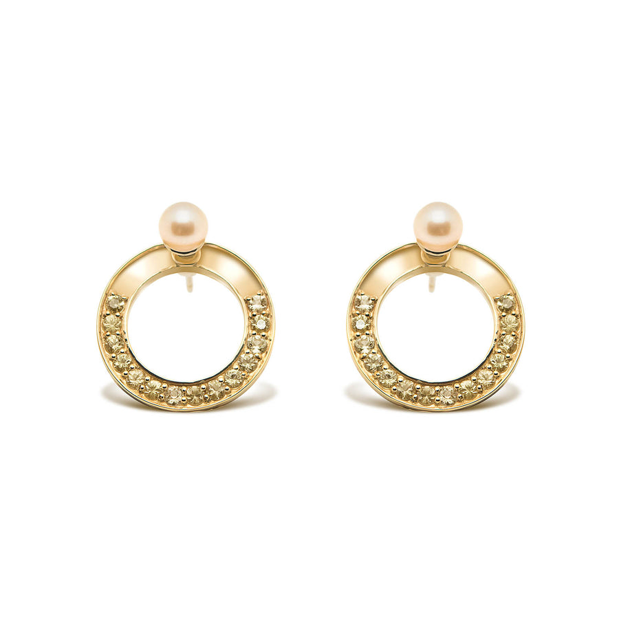 SNAKETRIC DISC EARRINGS GOLD