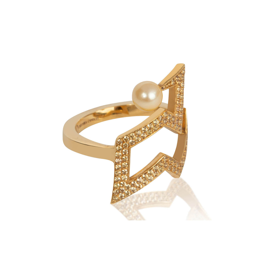 SNAKETRIC EDGY RING GOLD