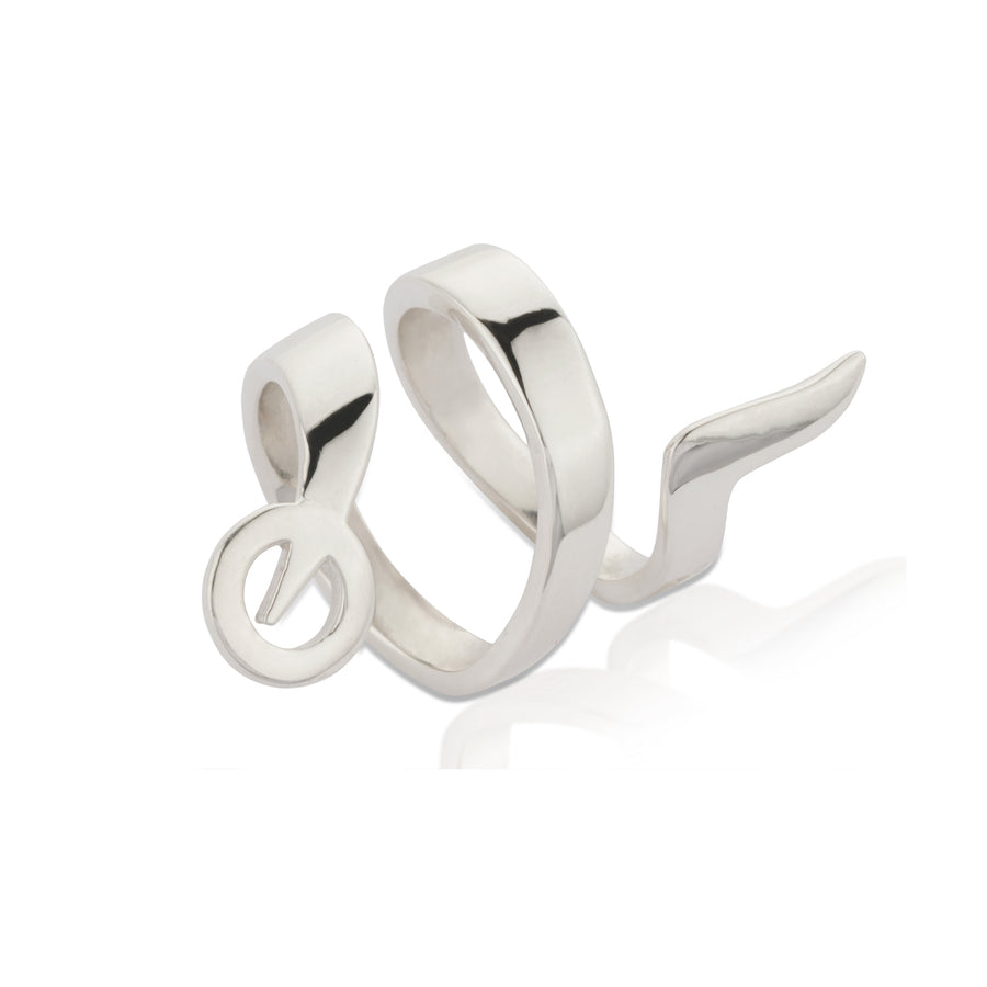 SNAKETRIC RING SILVER