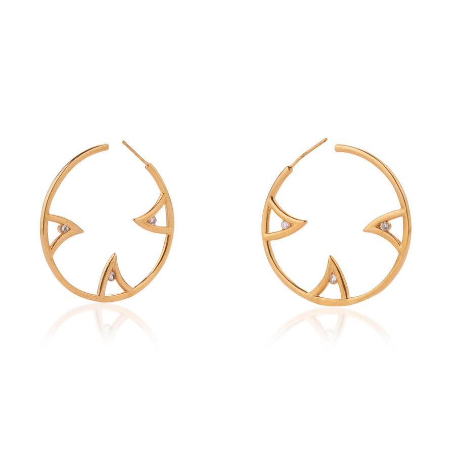SHARCH HOOPS GOLD