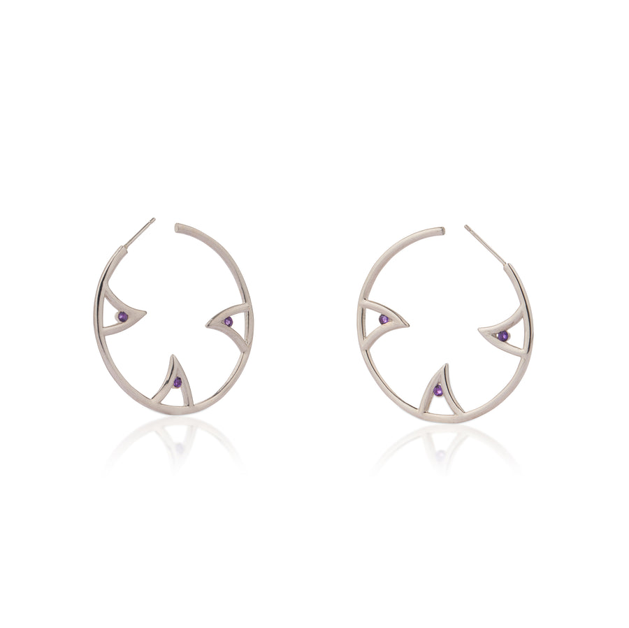 SHARCH HOOPS SILVER