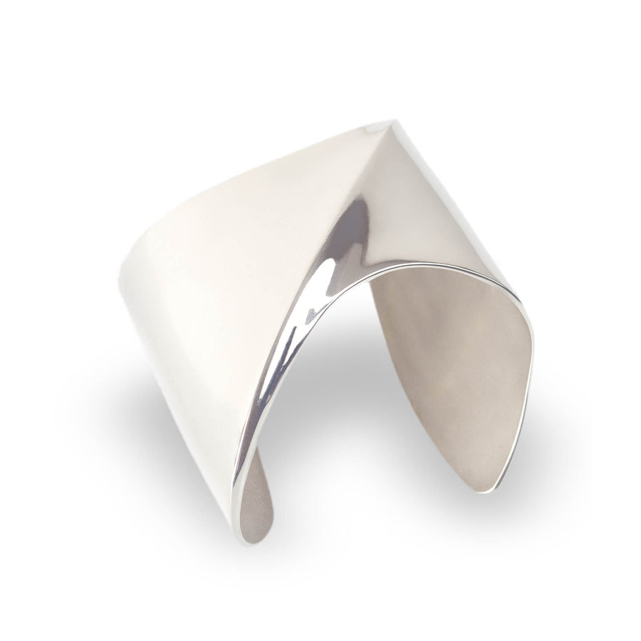 SHARCH SOLID BANGLE SILVER
