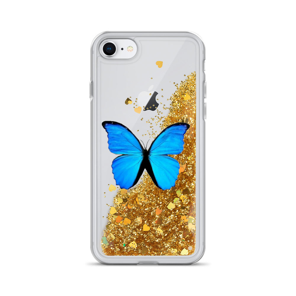 Butterly Liquid Glitter Phone Case