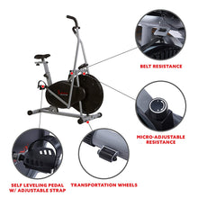 Load image into Gallery viewer, Air Resistance Hybrid Upright Exercise Bike W/ Arm Exercisers
