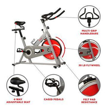 Load image into Gallery viewer, Chain Drive Indoor Cycling Trainer Exercise Bike - Silver
