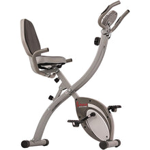 Load image into Gallery viewer, Folding Magnetic Semi Recumbent Upright Bike, Comfort Xl W/ High Weight Capacity and Pulse Rate