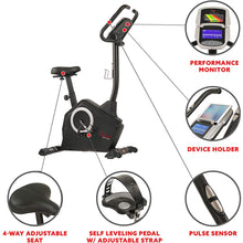 Load image into Gallery viewer, Magnetic Upright Exercise Bike with Programmable Monitor and Pulse Rate Monitoring
