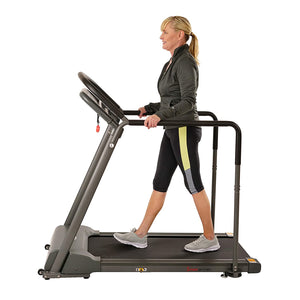 Recovery Walking Treadmill W/ Low Pro Deck and Multi-Grip Handrails for Mobility/balance Support
