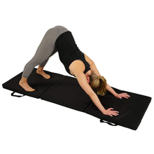 Load image into Gallery viewer, Tri-folding Exercise Gymnastics Mat - Extra Thick With Carry Handles