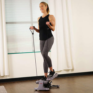Versa Stepper Step Machine W/ Wide Non-slip Pedals, Resistance Bands And LCD Monitor