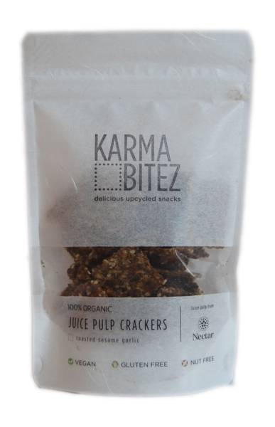 Karma Bitez Toasted Sesame Garlic Cracker