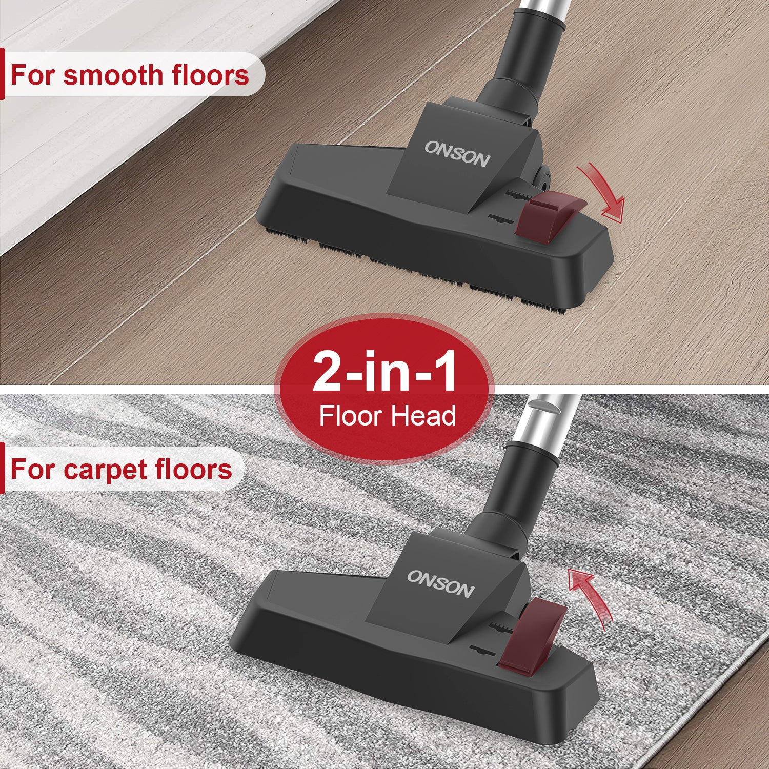 ONSON Vacuum Cleaner Corded, 16KPa Powerful Suction