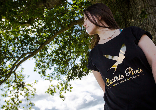 Ladies Gold Bird T-Shirt