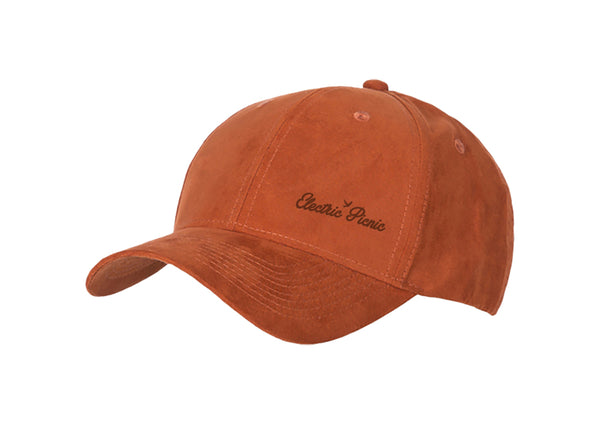 Burnt Orange Suede Cap