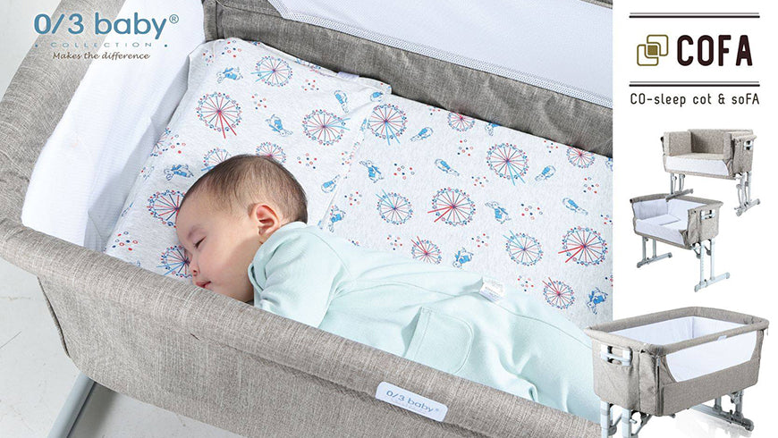 【0/3 baby NEW product】COFA simple but innovative COsleep baby cot