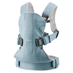 Baby Carrier One, Cotton - Light blue/Light grey